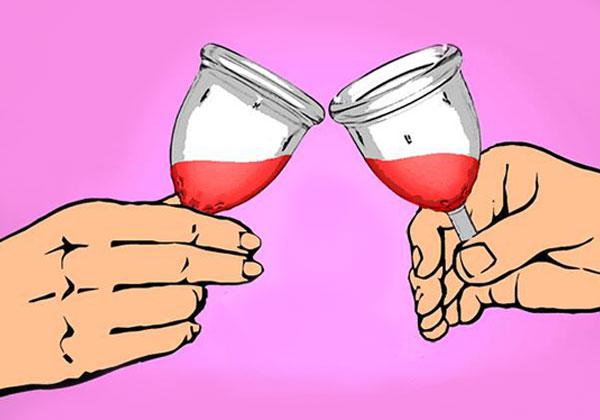 fête autour de la coupe menstruelle
