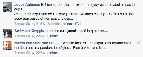 facebook expulsion stérilet cup