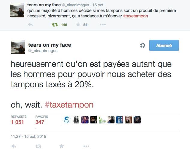 paie des femmes et taxe tampon