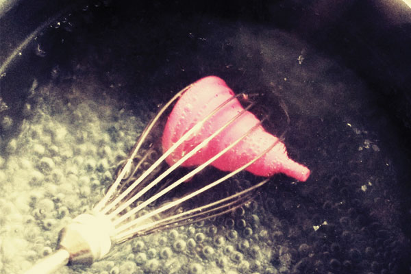 stérilisation d'une coupe menstruelle