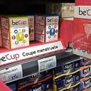 Be'Cup, la coupe menstruelle disponible en supermarché et grandes surfaces (et aussi en ligne désormais) !