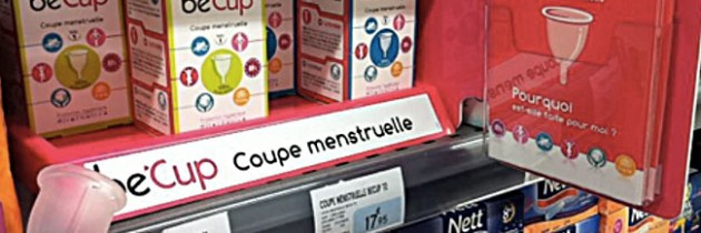 Be'Cup, la coupe menstruelle disponible en supermarché et grandes surfaces !