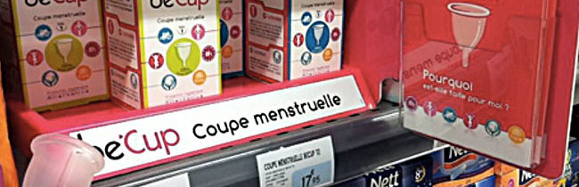 Be'Cup en supermarché