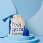 cup menstruelle Dansmaculotte large couleur bleu foncé