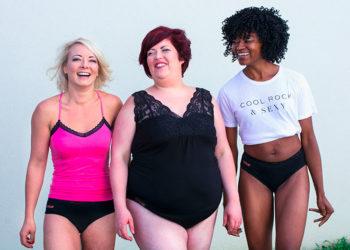 3 femmes avec une culotte menstruelle So'Cup