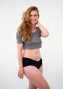 culotte menstruelle sans couture couleur noire