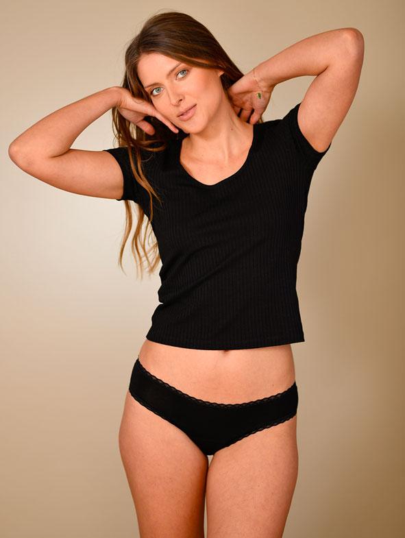 mannequin culotte noire en coton