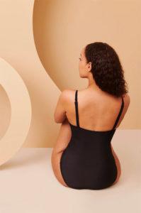 maillot de bain menstruel noir vue de dos
